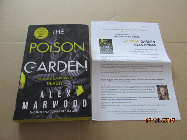 Image for The Poison Garden First Edition Unread Plus Publicity Letter