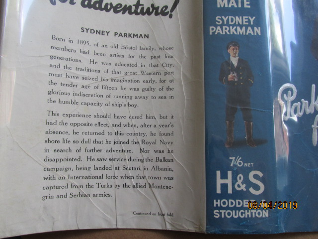 Image for The Acting Second Mate First Edition in Original Dustjacket