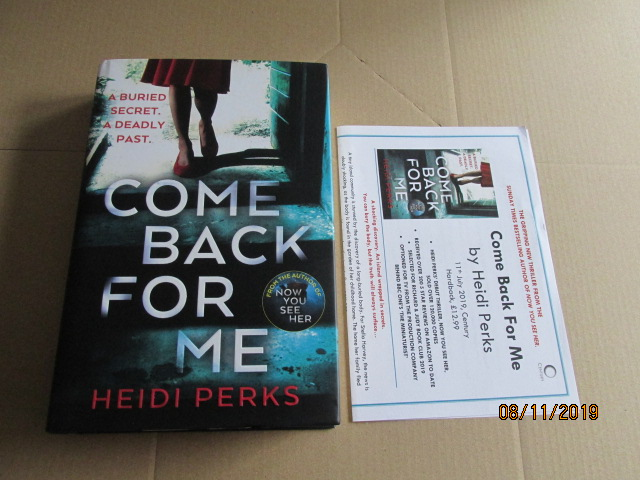 Image for Come Back for Me First Edition Plus Publicity Letter
