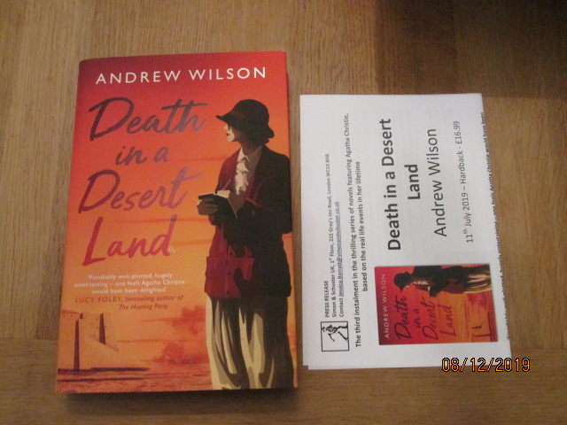 Image for Death in a Desert Land First Edition Plus Publicity Letter
