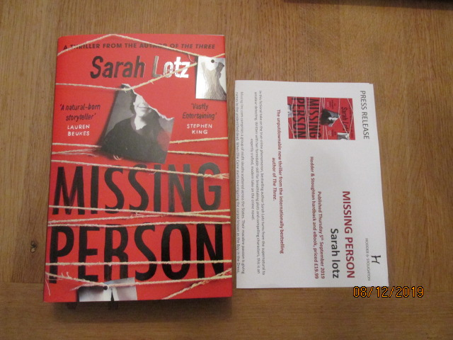 Image for Missing Person First Edition Plus Publicity Letter
