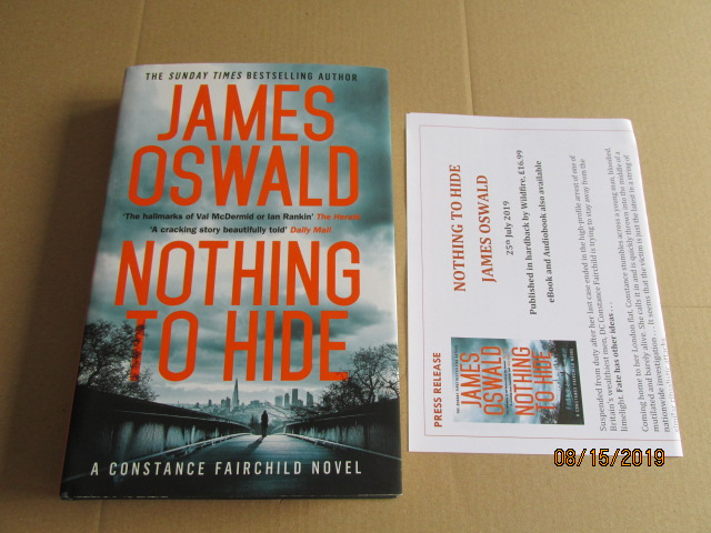 Image for Nothing to Hide First Edition Plus Publicity Letter