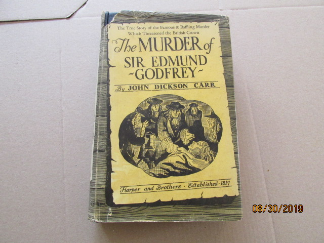 Image for The Murder of Sir Edmund Godfrey First Edition Hardback in Original Dustjacket