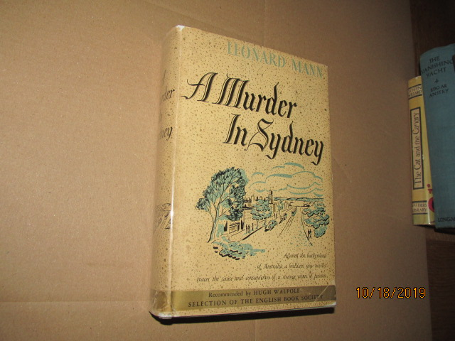 Image for A Murder in Sydney 1937 First Edition in Original Dustjacket