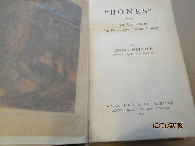 Image for Bones 1915 First Edition