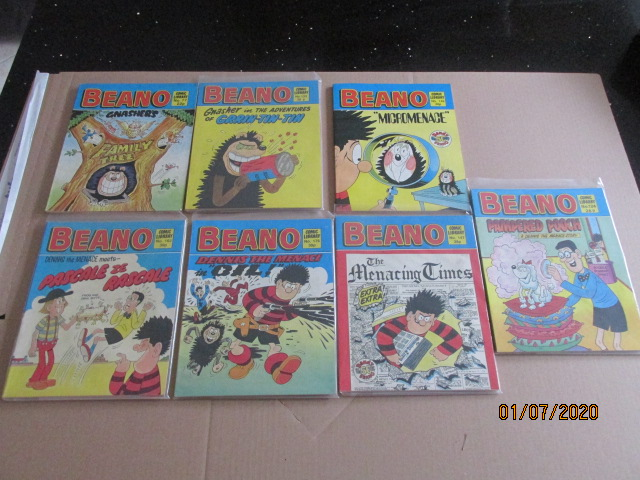 Image for Beano Comic Library No.77,124,133,147,149,162,176 Seven Vols