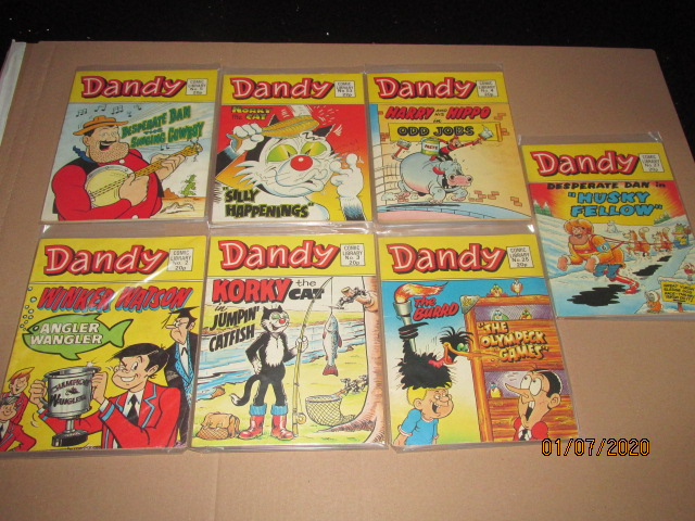 Image for Dandy Comic Library No.2,3,4,5,25,27,53 Seven Vols