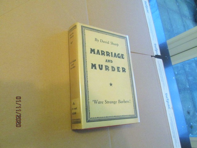 Marriage and Murder First Edition in Original Dustjacket