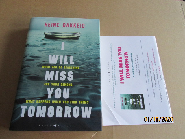 Image for I Will Miss You Tomorrow Unread first Edition Hardback in Dustjacket Plus Publicity Letter