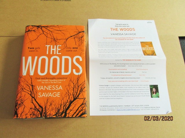 Image for The Woods First Edition Hardback in Dustjacket Plus Publicity Letter