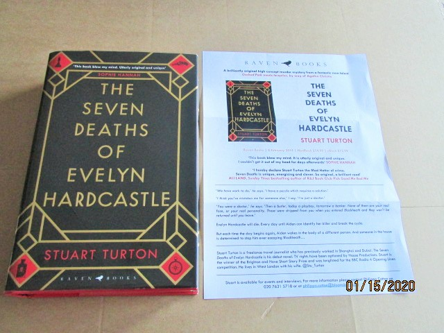 Image for The Seven Deaths of Evelyn Hardcastle First Edition Plus Advance Publcity Letter
