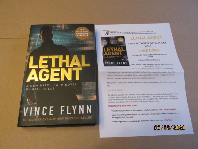 Image for Lethal Agent First Edition Hardback in Dustjacket Plus Publicity Letter
