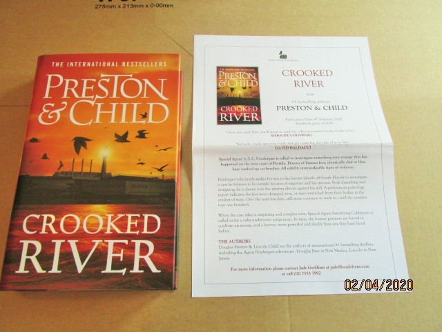 Image for Crooked River First Edition Hardback in Dustjacket Plus Publicity Letter