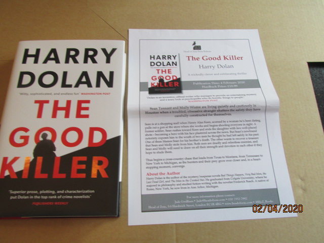 Image for The Good Killer First Edition Hardback in Dustjacket Plus Publicity Letter