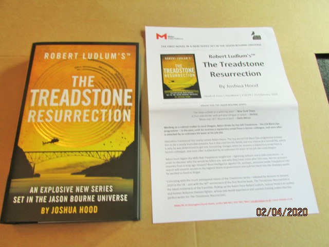 Image for The Treadstone Resurrection First Edition Hardback in Dustjacket Plus Publicity Letter