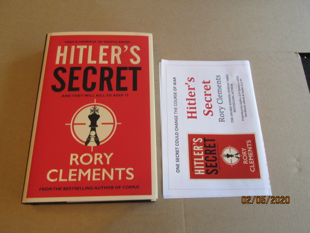 Image for Hitler's Secret Unread First Edition Hardback in Dustjacket Plus Publicty Letter