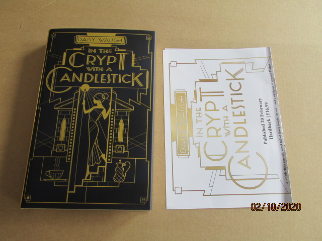 Image for In the Crypt with a Candlestick Unread First Edition Hardback in Dustjacket Plus Publicity Letter