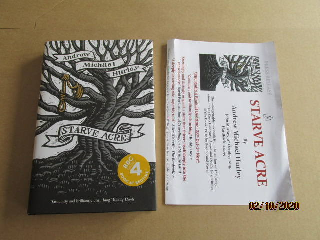 Image for Starve Acre Unread First Edition Hardback in Dustjacket Plus Publicity Letter