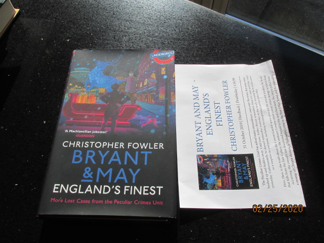 Image for Bryant and May England's Finest Unread Signed Lined Dated First Edition Hardback in Dustjacket Plus Publicity Letter