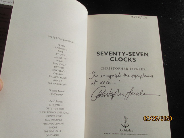 Image for Bryant and May Seventy-Seven Clocks Signed Lined Dated First Edition Hardback in Dustjacket