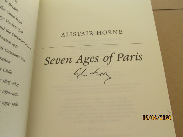 Image for Seven Ages of Paris Signed Unread first Edition