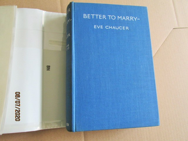 Image for Better to Marry Signed First Edition Hardback in Original Dustjacket