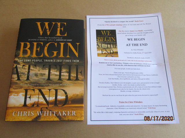 Image for We Begin At the End Unread first Edition Hardback in Dustjacket Plus Publicity Letter