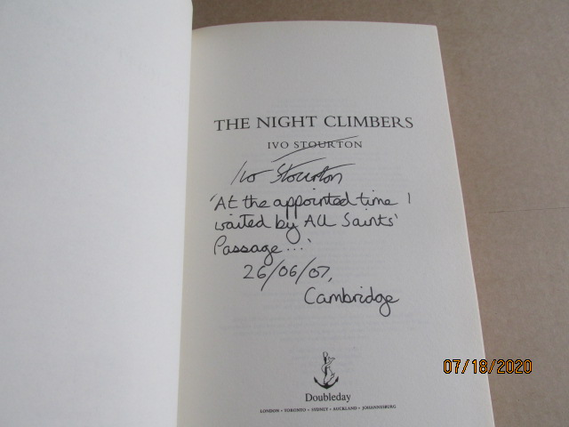 Image for The Night Climbers Signed Lined Dated Located First Edition Hardback in Dustjacket