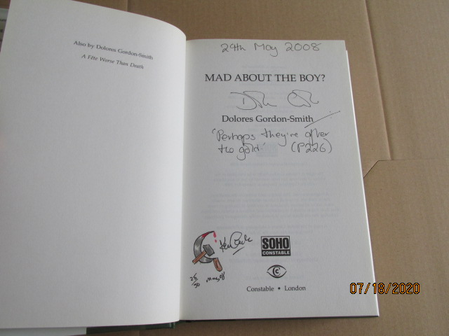Image for Mad About the Boy ? Signed Lined Dated Drawing Numbered First Edition Hardback in Dustjacket