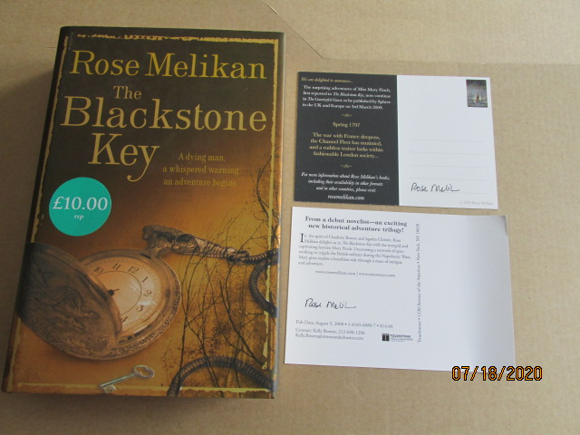 Image for The Blackstone Key Signed First-Lined and Dated Plus 2 Different Signed Postcards