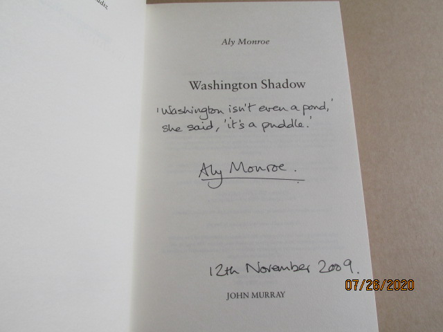 Image for Washington Shadow Signed Lined Dated First Edition Hardback in Dustjacket