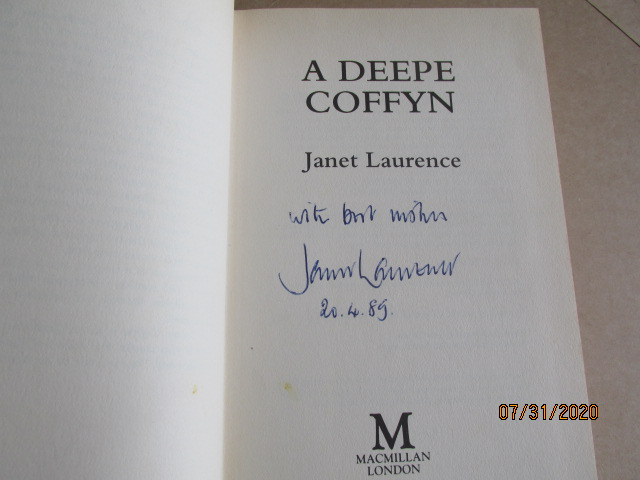 Image for A Deepe Coffyn Signed and Dated First Printing