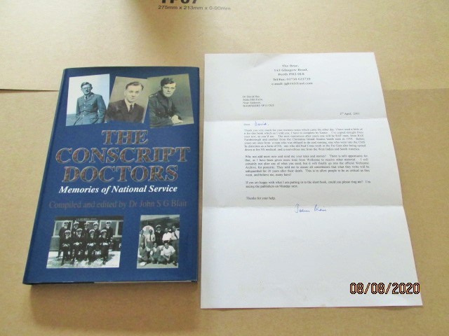 Image for The Conscript Doctors: Memories of National Service Plus Signed Letter from Blair