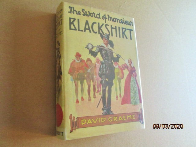 Image for The Sword of Monsieur Blackshirt First Edition Hardback in Original Dustjacket