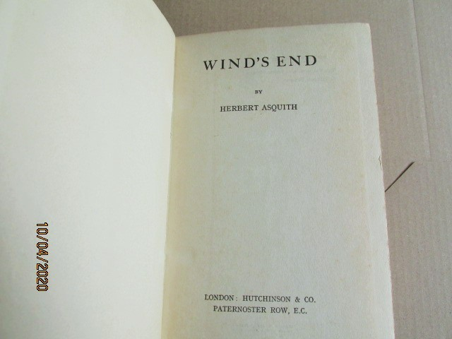 Image for Wind's End First Edition Hardback in Original Dustjacket