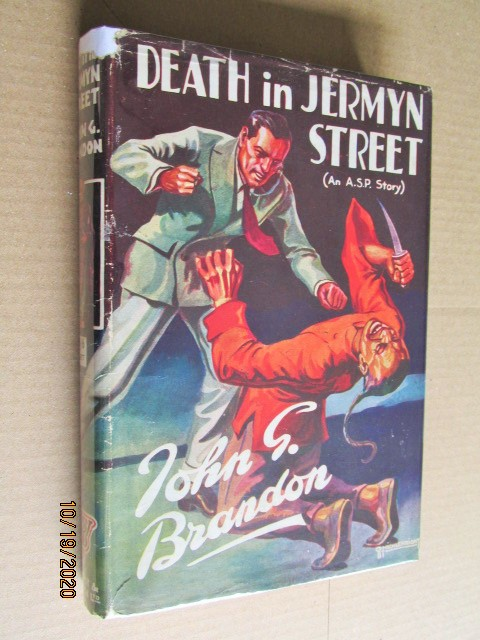 Image for Death in Jermyn Street First Edition Hardback in Original Micklewright Design Dustjacket