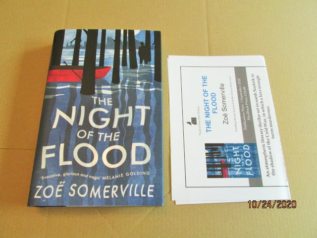 Image for The Night of the Flood First Edition Hardback in Dustjacket Plus Publicity Letter