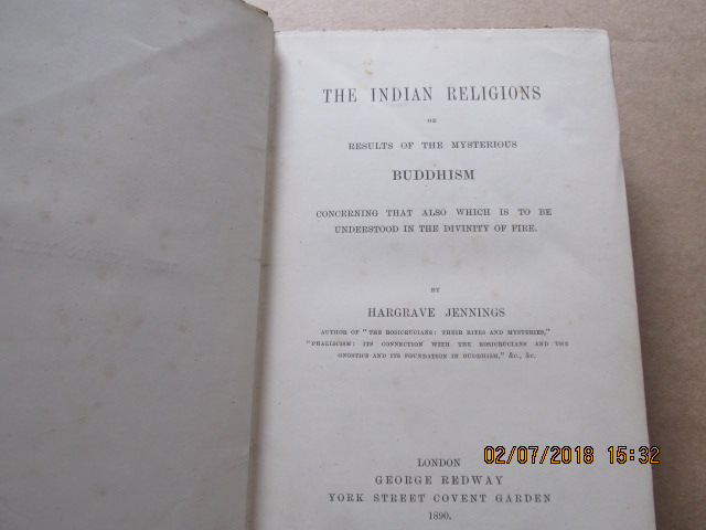 Image for The Indian Religions or Results of the Mysterious Buddhism First Edition