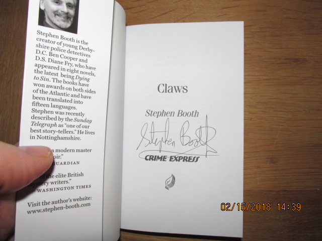 Image for Claws [ Signed Fine Copy a DC Ben Cooper Story ]