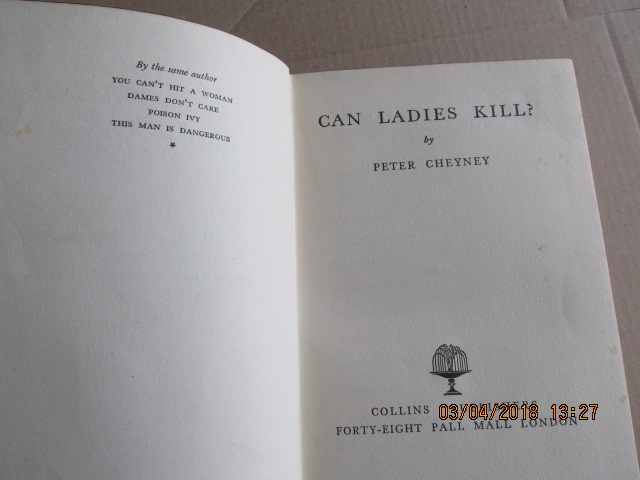 Image for Can Ladies Kill ? [ 1938 1st Printing Authors Special Signed Gift Edition ]
