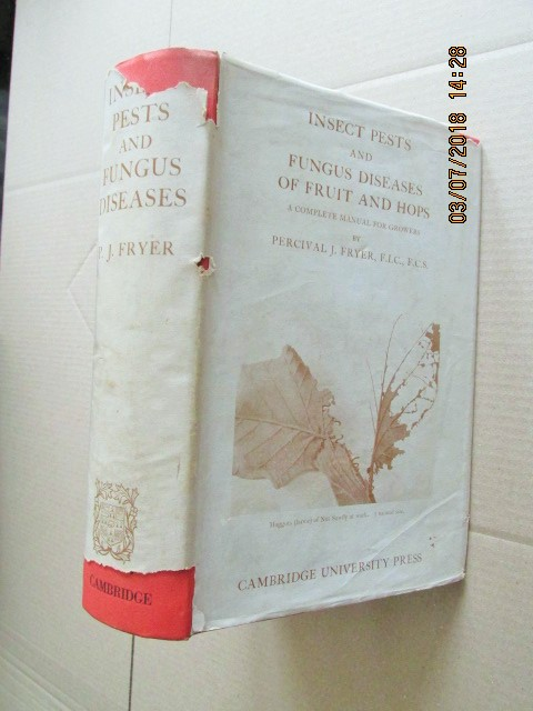Image for Insects Pests and Fungus Diseases of Fruit and Hops a Complete Manual for Growers first Edition Hardback in Dustjacket