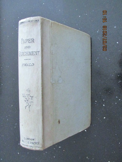 Image for Paper and Parchment Historical Sketches  [ 1st Edition 1890]